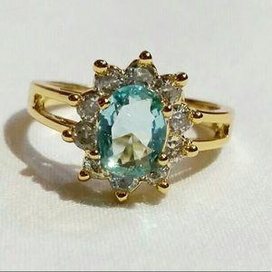 Jewelry - 💙BOGO 50% OFF💙Natural Blue Topaz Golden Ring